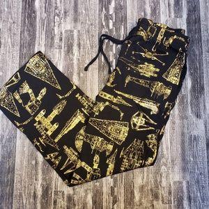Star Wars Gold Foil Millennium Falcon pajama pants